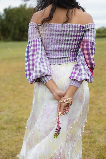 abacaxi Daphne Blouse - Cosmic Gingham