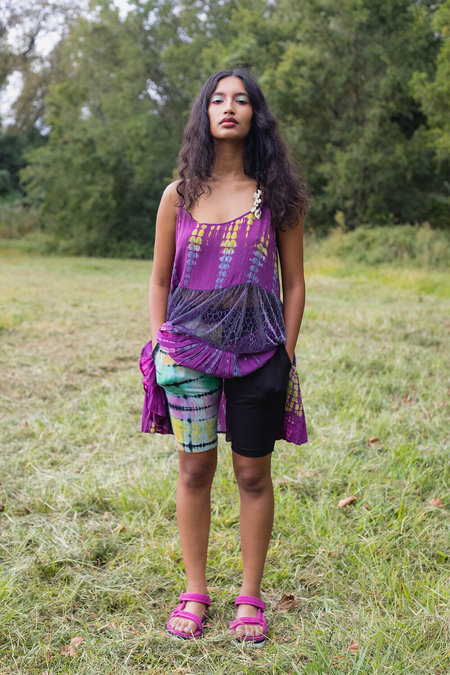 Abacaxi Pocket Shorts - Night Rainbow