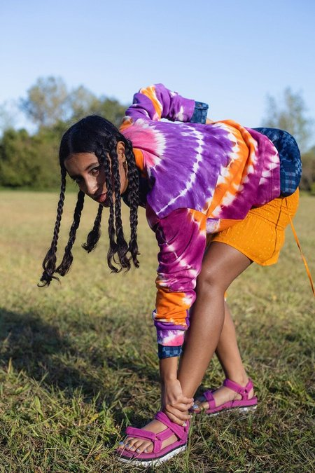 abacaxi Tie-Dye Long Sleeve Top - Marigold Sunset