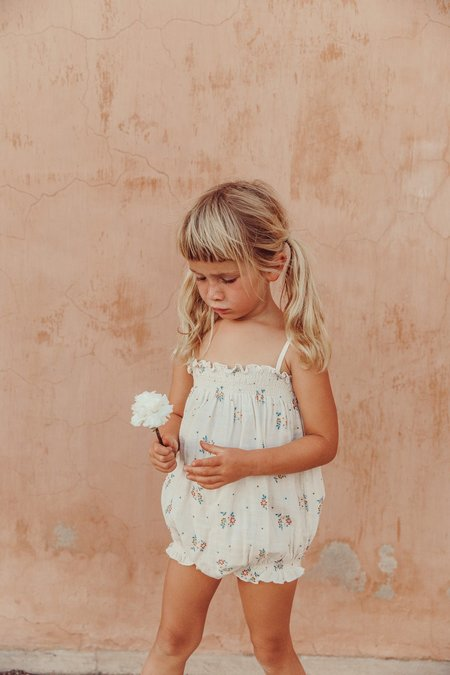Kids Liilu Smocked Romper - Summer Blossom