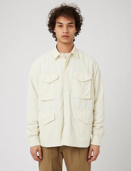 Eastlogue M65 Nylon Washer Shirt - White