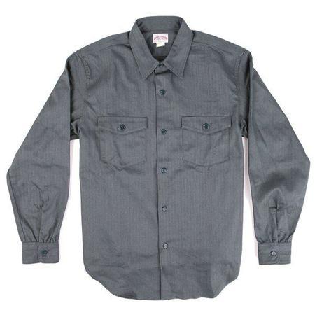 The Real Mccoy's 8HU HBT Long Sleeve Workshirt 122