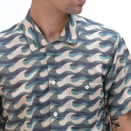 Far Afield Wavista Selleck Short Sleeve Shirt - Blue