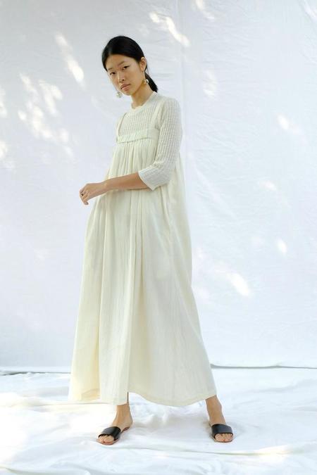 Micaela Greg Column Dress - Natural