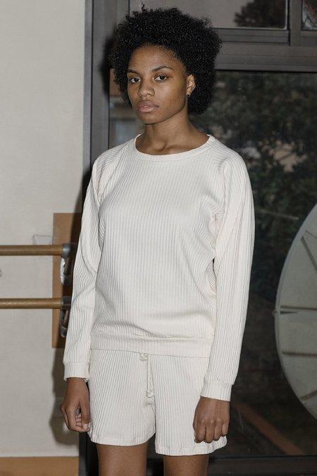 Baserange Basic Ribbed Fleece - Off White