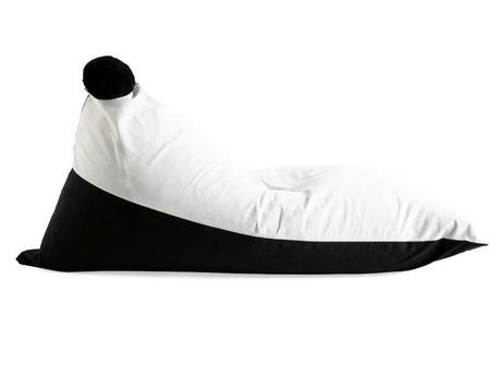 SACK ME Pom Pom Bean Bag Chair Cover - Black/White