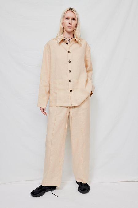 Sleeper Linen Pajama Set with Pants - Cream