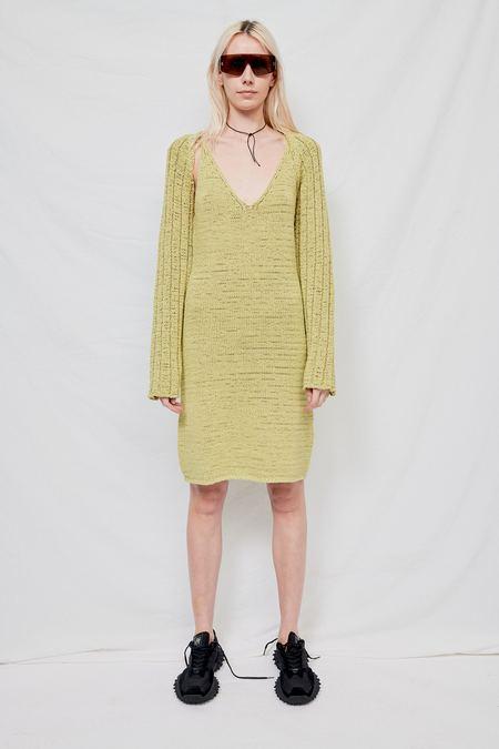 Theopen Product Cotton Sleeveless Knit Dress - Green