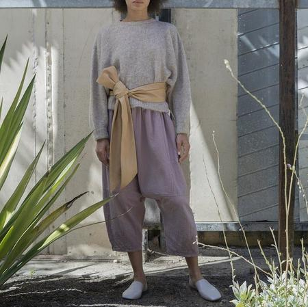 Atelier Delphine Kiko Crinkled Cotton Pant - Desert Lavender