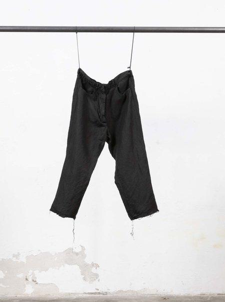 Serien°umerica Linen Trousers - Black