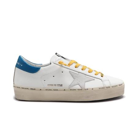 Golden Goose Hi Star Leather Sneakers - White/Blue