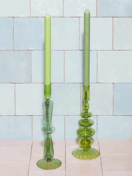 Aeyre Fisca Candlestick - Kelly Green