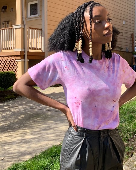UNISEX Queen of Cups Ice Dyed Tee - Space Dust