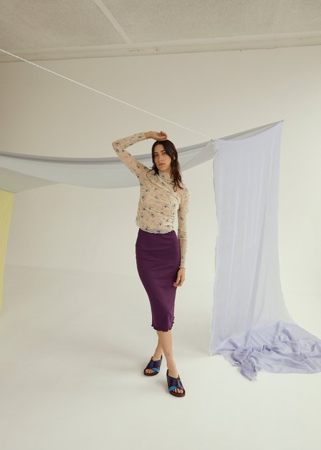 permanent vacation Luxe Skirt - Plum