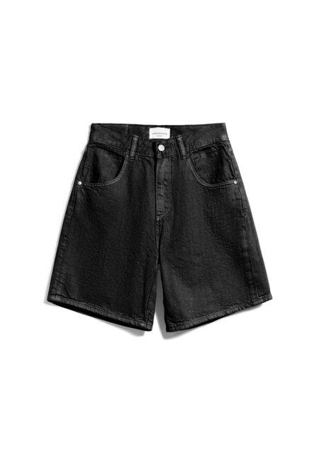 Armedangels Freymaa Organic Cotton Denim Shorts - Washed Down Black