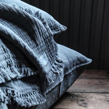 kids Moumout Paris Autumn Paris Plaid Loulou Throw Blanket - Blue