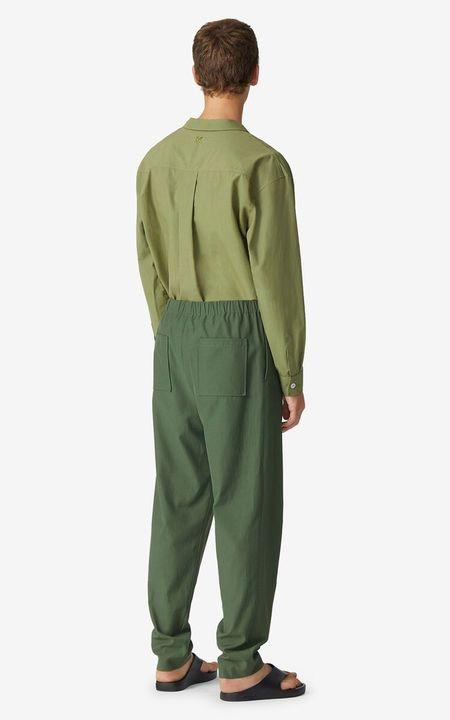 Kenzo Cotton Twill Jog Pant - Olive