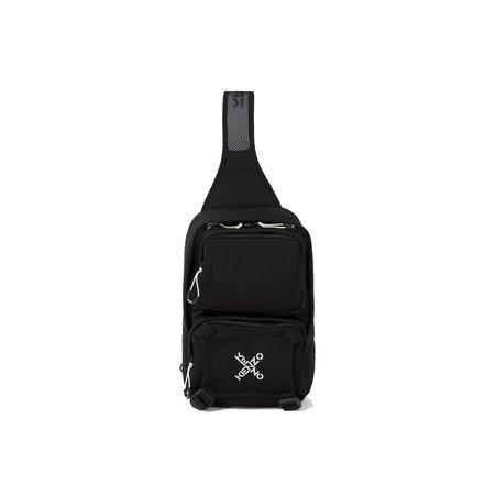 Kenzo One Shoulder Sport Nylon Backpack - Black