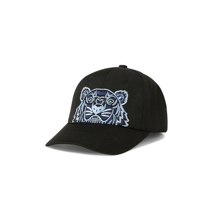 Kenzo Tiger Embroided Canvas Cap - Black