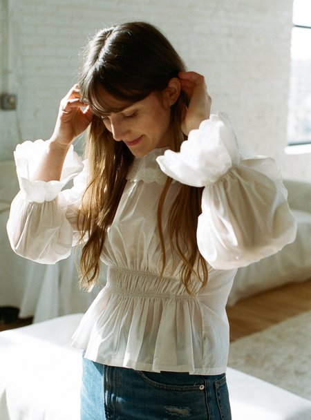 Aurore van Milhem Jeanne Blouse - White