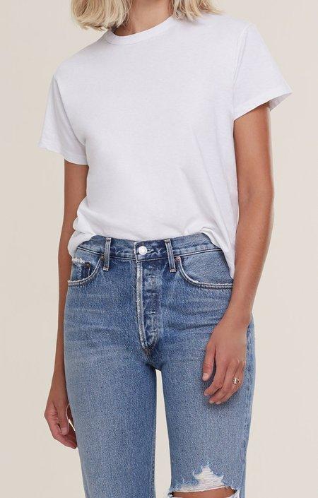 AGOLDE Rena Crew Neck T Shirt - Paper Mache