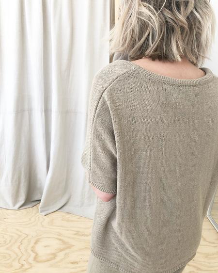 Mónica Cordera Knit Linen Polo - Smocked Green