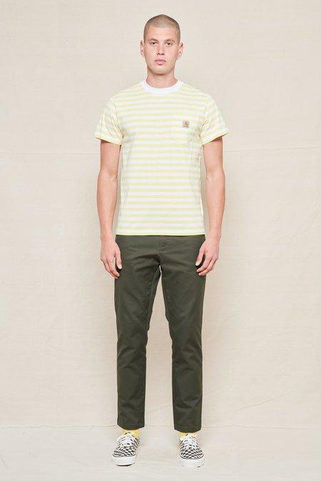 CARHARTT WIP Scotty Stripe Pocket T-Shirt - white