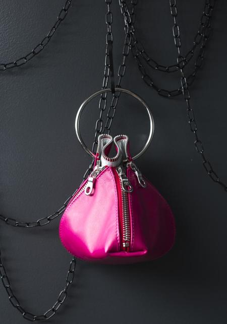 Amorphose Ring and Zip Detail Clutch - Magenta