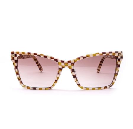 Machete Sally Sunglasses - Checkered Tortoise