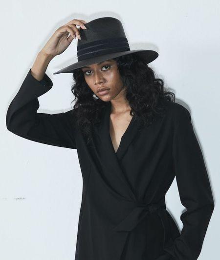 Janessa Leone Marin hat - Black