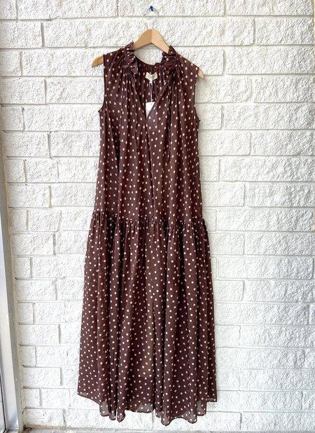 Psophia Dress - Brown Polka Dot