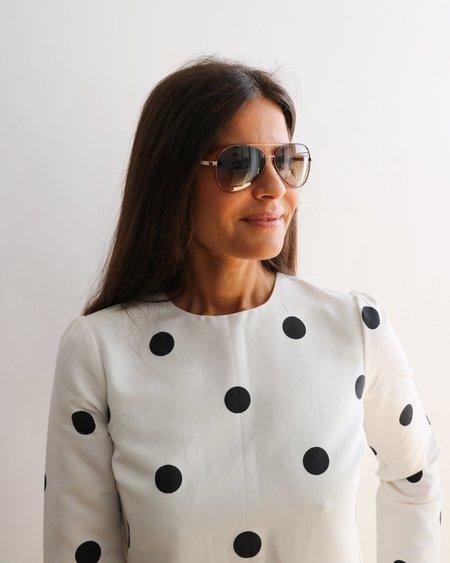 Pre-loved Yves Saint Laurent Aviator Sunglasses - brown