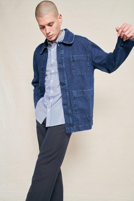 Schnayderman's Chore Denim Wash Jacket - WASHED INDIGO