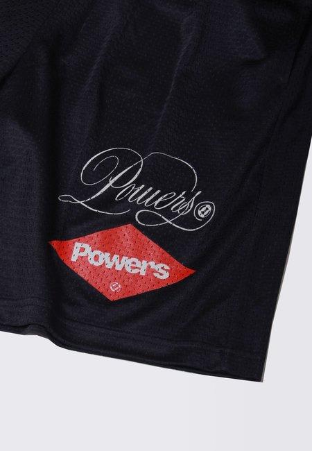 Powers Diamond Script Mesh Shorts - black