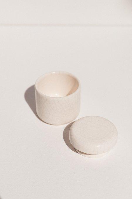 Gidon Bing Salt/Sugar bowl - White Crackle