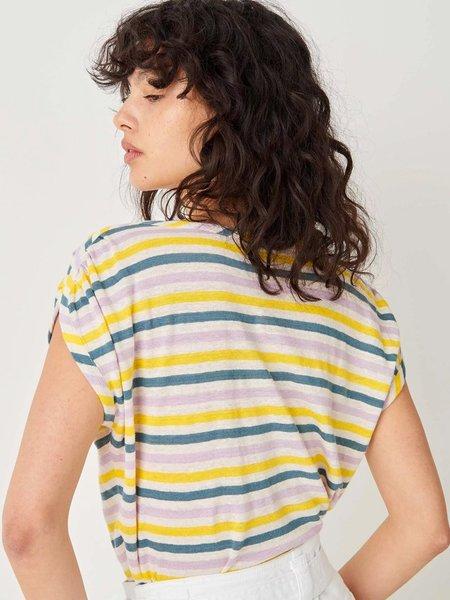 Sessun Sixtolin Stripe T-Shirt - Lemon Ice