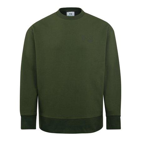 adidas Y-3 Classic Chest logo Crew Sweatshirt - Khaki
