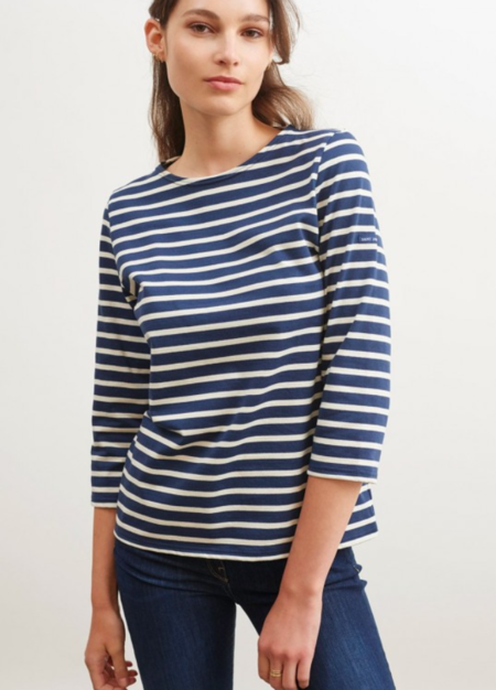 Saint James 3/4 Sleeve Shirt - Breton stripes