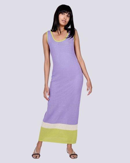 Rita Row Calista long crochet dress - beige