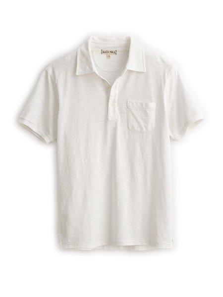Alex Mill Slub Cotton Polo - White