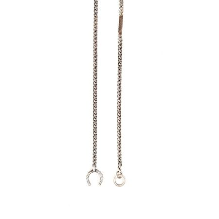 The Letters Silver Horseshoe Chain Necklace