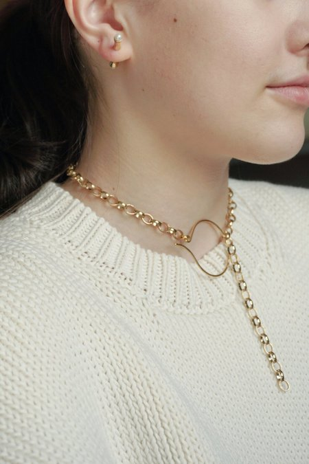 BEATRIZ PALACIOS LARGE CHAIN NECKLACE - GOLD PLATED BRASS
