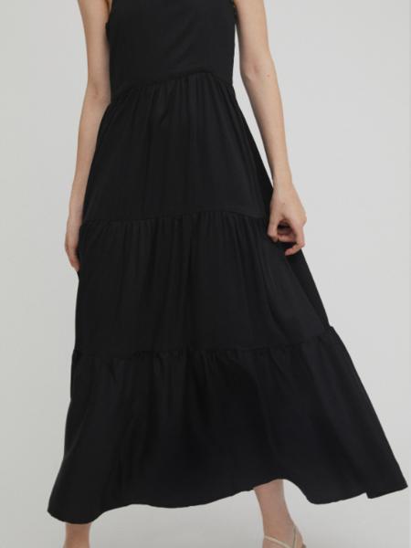Rita Row Long Tencel Dress - black