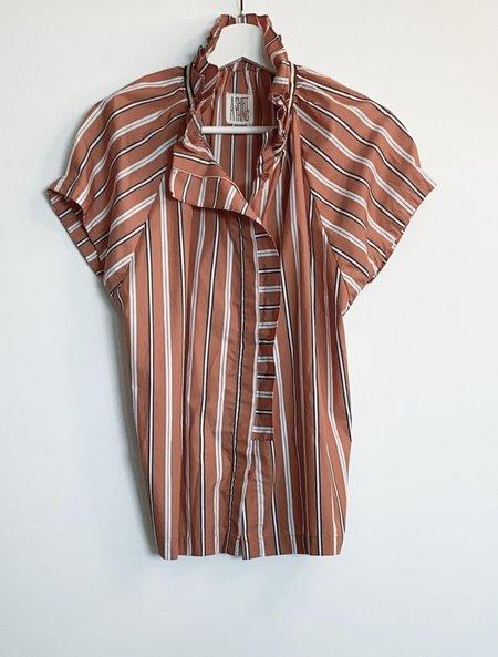 A Shirt Thing Stella Stripe top - Orange