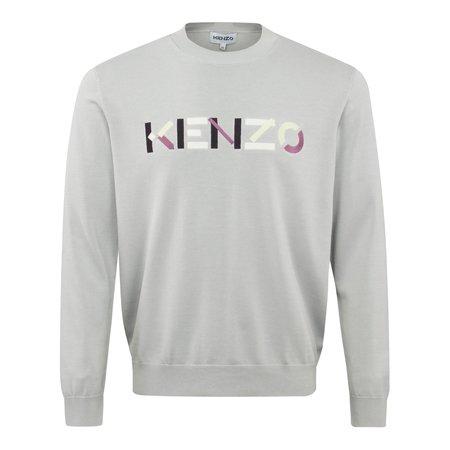 Kenzo Multi Colour Logo Crewneck Knitwear sweater - Grey