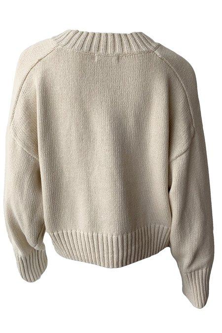 St. Agni Eero Knit Pullover - Ecru
