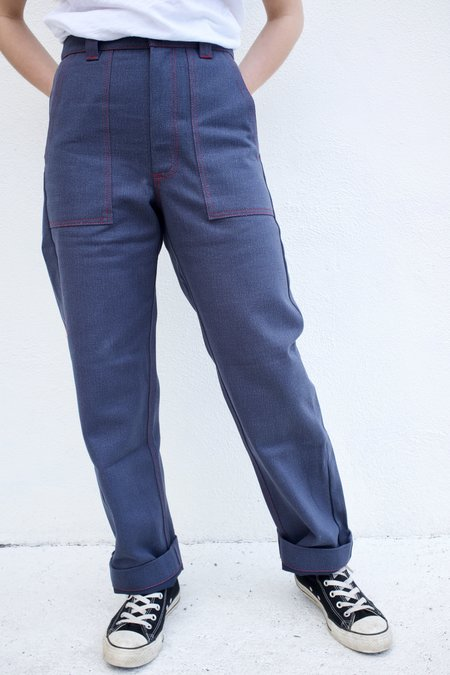 Beaton Linen Utility Pant - Denim