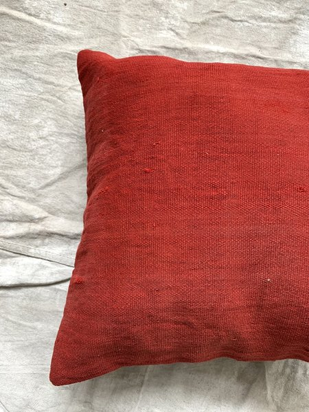 Cuttalossa & Co. Kilim Throw Pillow - Tomato Red