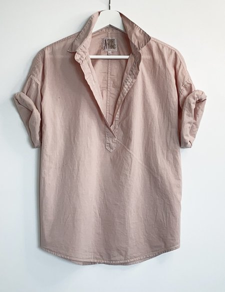 A Shirt Thing Delilah Cabo Top - Blush