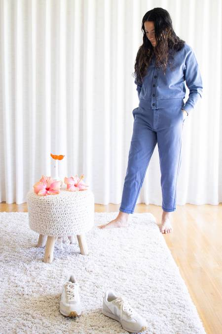 Alex Mill Davie Fleece Pants - Dusty Blue